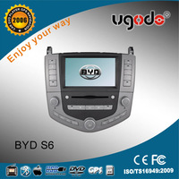 ugode double din dvd car audio navigation system for BYD S6