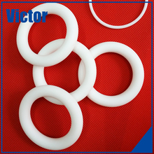 O rings teflon coated cnc machined circle plastic turning part