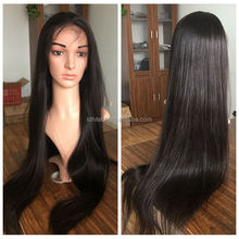 natural hair line thick ends virgin hair Brazilian human hair full lace wig,wholesale Brazilian hair wig,100 human hair wig