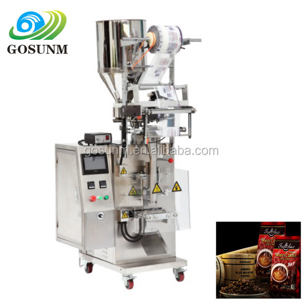 automatic package coarse salt small powder filling packaging machine, coffee powder packing machine