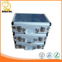 Beauty aluminum carring case with clear glass lid