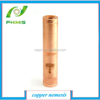 stainless and copper nemesis mod, vaporizer nemesis mod and chi-you mod, nemesis mod