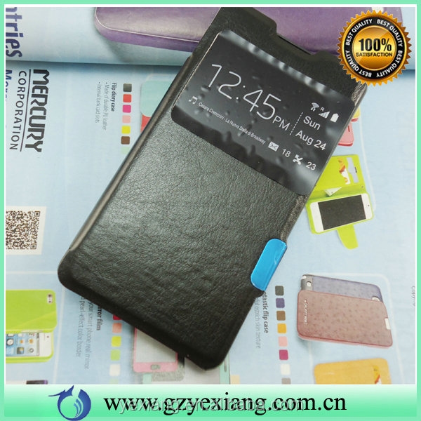 Commercial Using Smart Leather Case For Sony Xperia Z1 Compact Cover