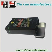 Small Hinged Lid Metal Cigarettes Tin Boxes