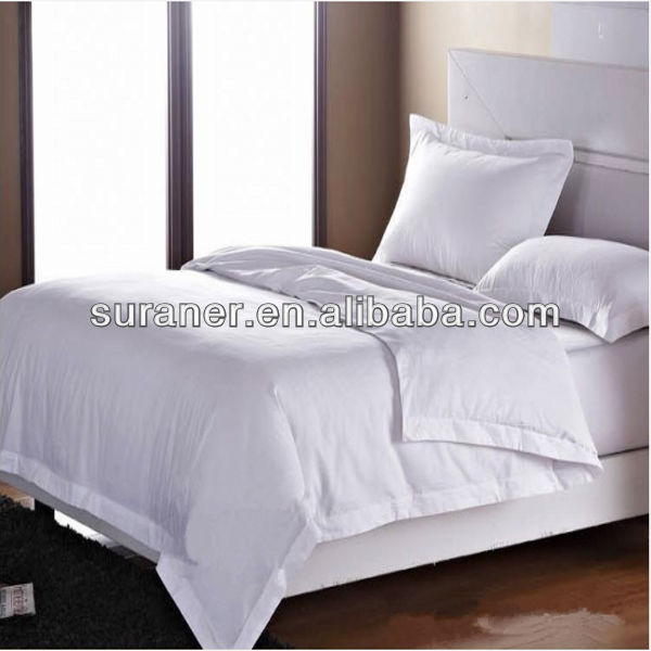 100%cotton 330T white bed sheets for hotels and hospitals