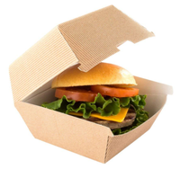 Mini Slider Disposable To Go Box Kraft Brown Slider Burger Box