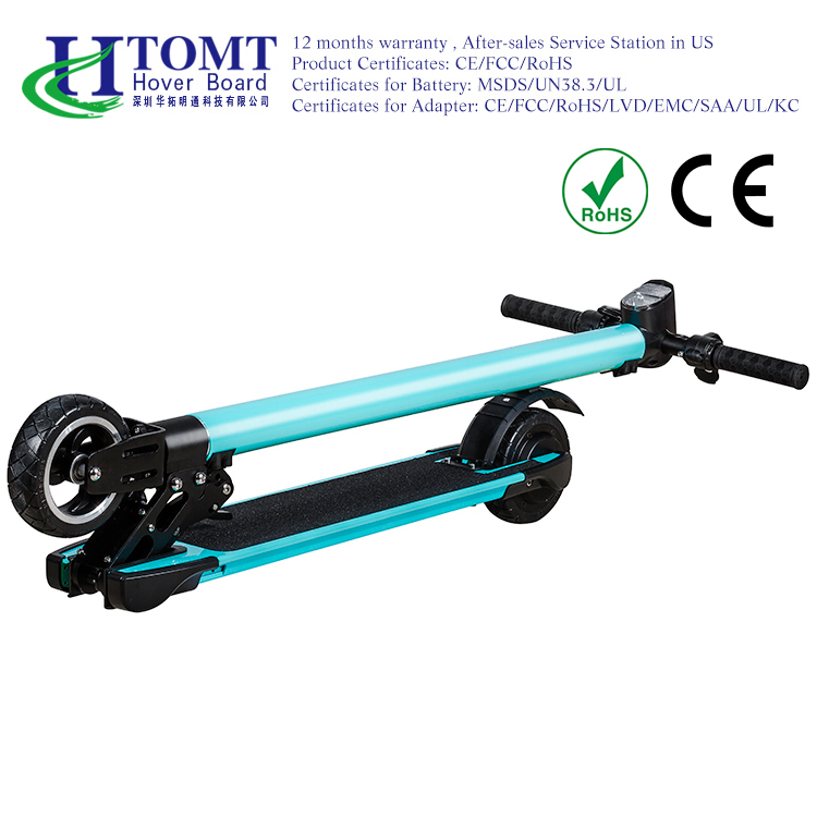 2017 HTOMT Lightweight Electric Kick Scooter 24V 250W built-in Samsung battery with bar and bag
