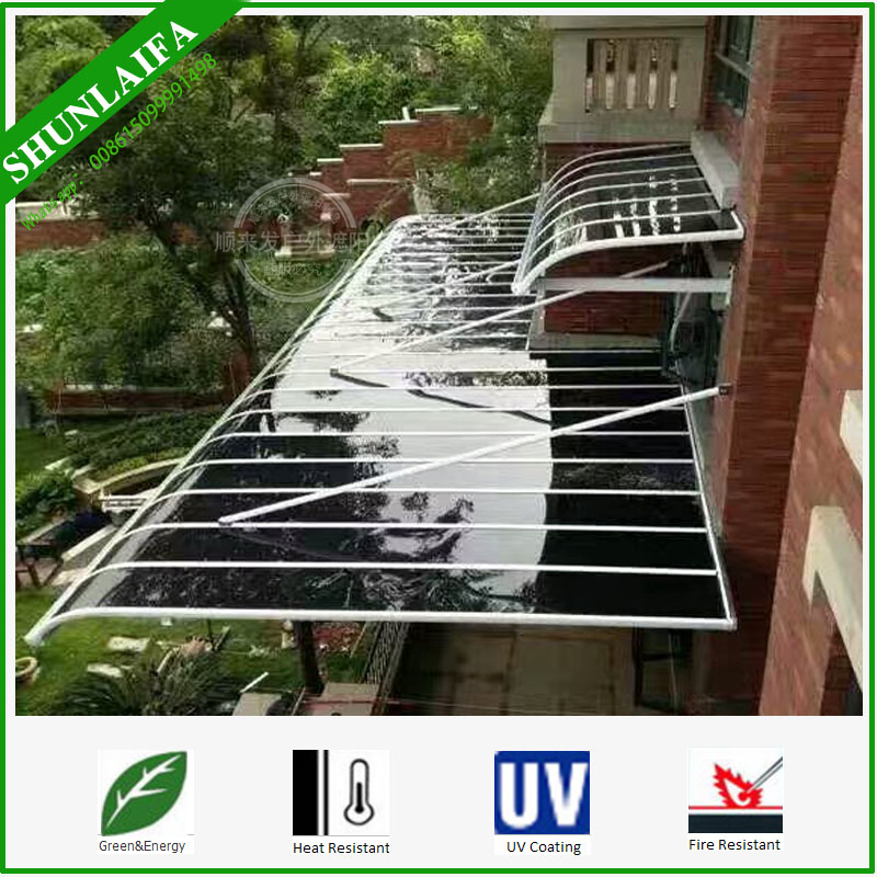 Clar Plastic Acrylic Plexiglass Arc Wall Canopy Glass Polycarbonate with Aluminum Bracket