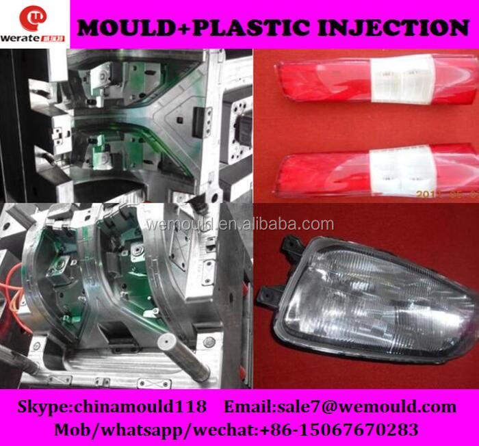 plastic injection auto head lamp body mould