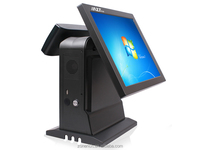 "15"" touch screen POS system terminal with Customer Display ZQ-T9020"