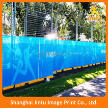 Outdoor custom vinyl banner, double sides printed street pole display banner flag (JTAMY-2015102311)