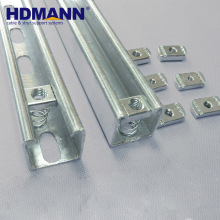 HDmann Powerful Strut HDG Steel Electrical C Channel Unistrut Prices
