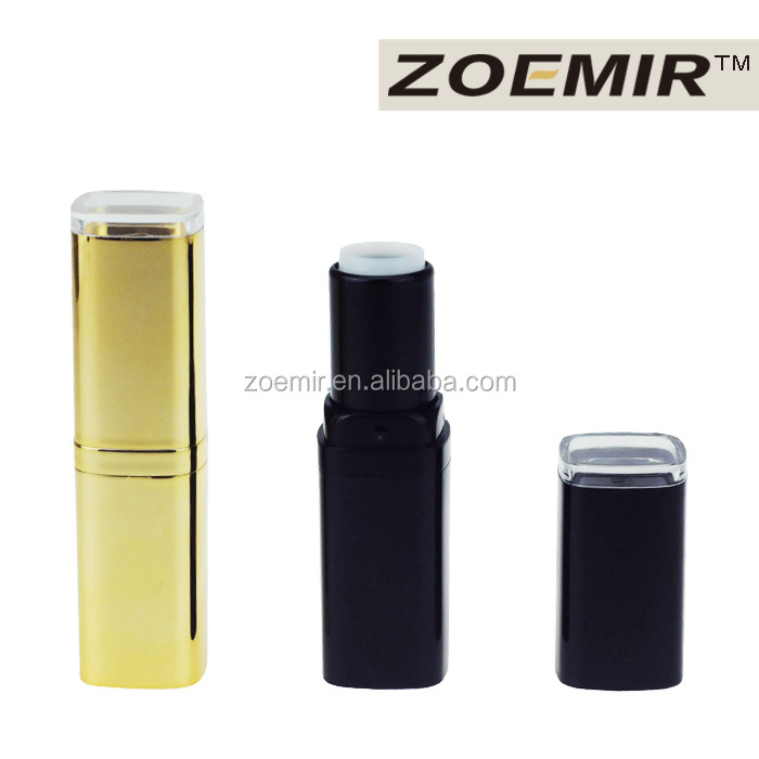 Asian 24k golden luxury square lipstick container with custom design for wholesale