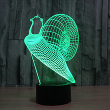 FS-2855 creative 3D night light of snail home desk lamp for decoration