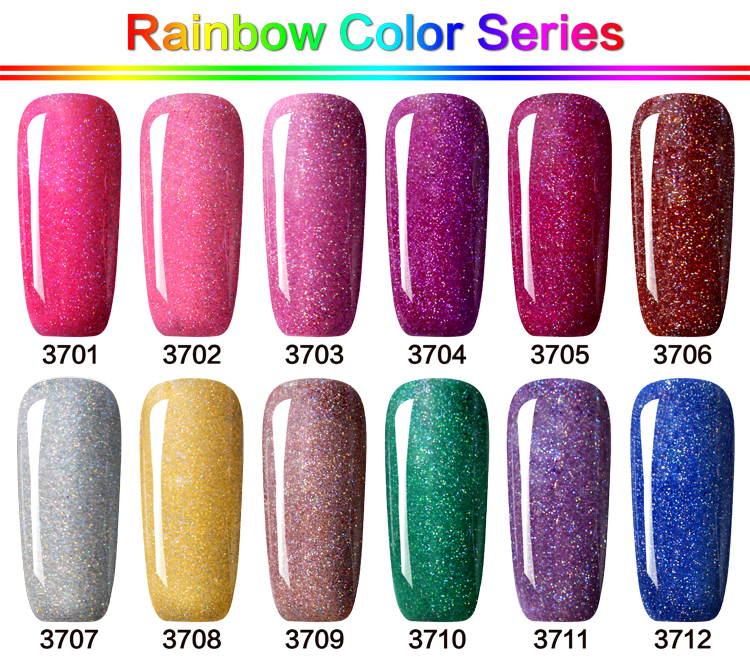GelArtist Brand Wholesale Rainbow Color Gel Nail Polish