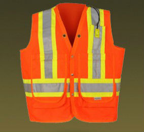 New invention construction safety vest with reflective tape