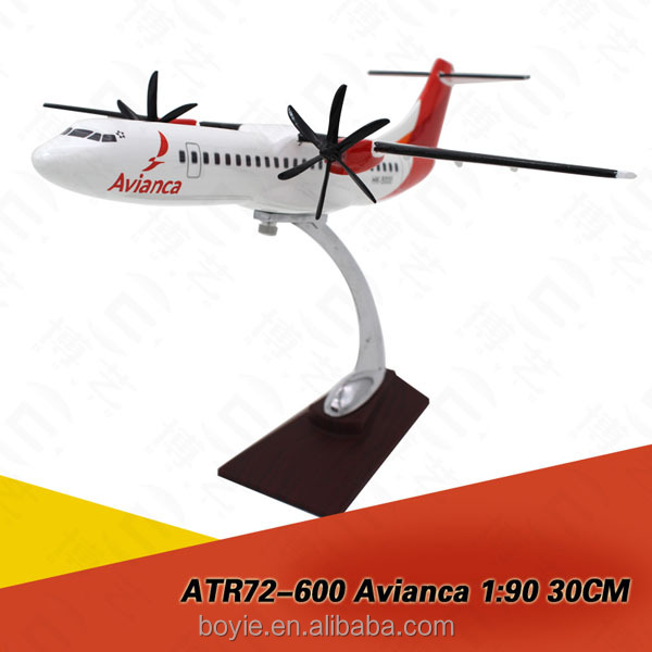 32CM-ATR72 Avianca ture to scale decorative used resin material 1:200 flying model planes with stand