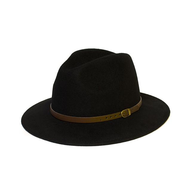 Wide Brim Warm Wool Floppy Hat Vintage Bowknot Felt Hat