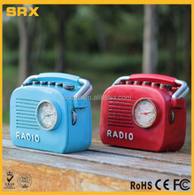 Factory OEM radio shape piggy banks money box,wholesale radio decorative coin banks,custom making coin banks maker