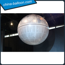 hanging inflatable death star/ lighting death star balloon
