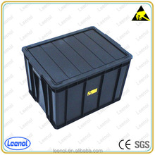 LN-2113 PP plastic black antistatic container for electronical factories