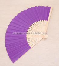 Summer simple student folding small fan mini portable fan paper Japanese bamboo folding fan