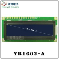1602 16x2 Monochrome character lcd display glass module 1602 lcd display
