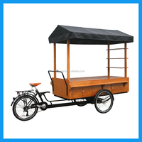 Catering Trailers Food Cart Pedal Cargo Tricycle for Sale