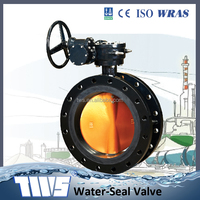 AWWA flanged concentric gear operated butterfly valve