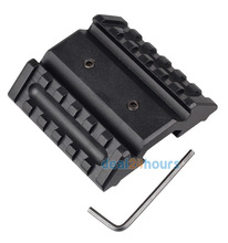 New Tactical Dual 45 Degree Offset Mount 20mm W/ Picatinny Rail For Sight Flashlight Free shipping