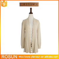 Fashion Lightweight Ladies Cardigan Cotton Sweater