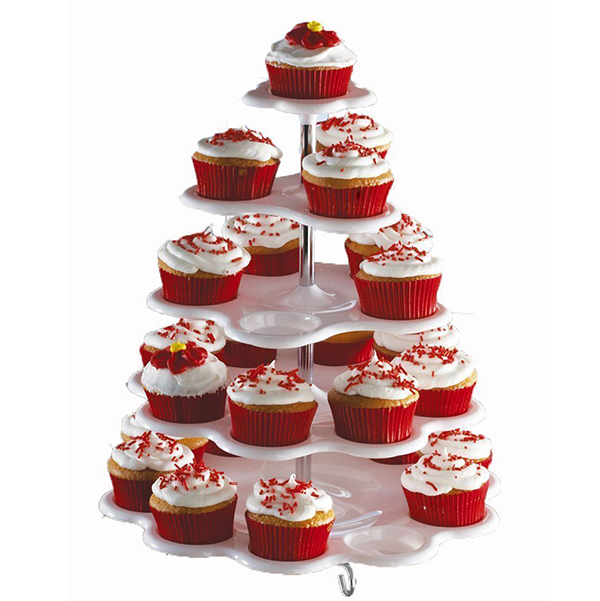 5 Tier Round Cake Stand Cupcakes Crystal Acrylic Tower Holder Wedding Decoration Party Birthday