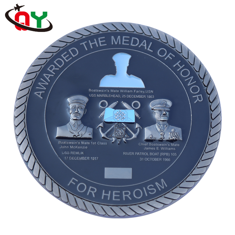 2017 Wholesale Custom Army Metal Medal Coventry Military Challenge Coin of Honor