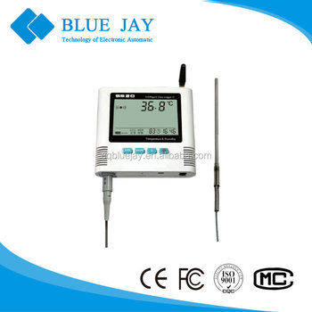 S 520-EPT-GPRS Clear LCD display single external PT100 probe temperature data logger