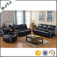BJTJ new model optional color PU leather sofa recliner sectional sets 70552B