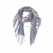 factory fast ship America flag printing design customized fashion lady viscose polyester cotton scarf shawl