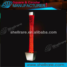 LED light square water bubble tube for home and night club decoration
