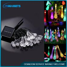 Led solar christmas light with water drop h0taP led wireless christmas tree lights for sale