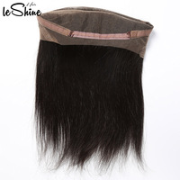 Cheap Glueless Human Hair Lace 360 Wig Adjustable Straps Ponytail 360 Lace Frontal With Baby Hairs