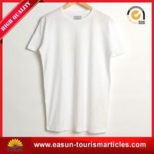 Cheap price bulk wholesale white t shirt long line t shirt men cropped t-shirt