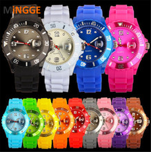 promotion 3D Dial Date Calendar Silicone Band bracelet rubber wrist watch with calendar
