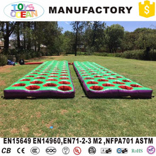 inflatable 5k mattress run bounce ankle hole sport games