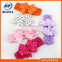 Baby/Infant/Toddler Crochet Headband Dot Hair bows Crochet Elastic Headbands