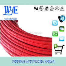 hot sales UL3122 fiberglass braided silicone lead wire for lamp