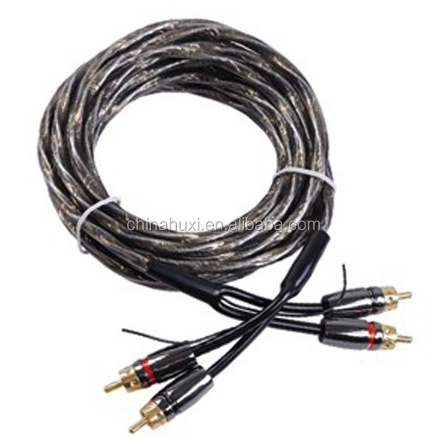 Male To Male Electrical Double Shield RCA to Firewire Cable , Cable RCA