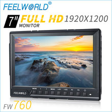 "7"" field monitor 1920*1200pixels HDMI input 450cd/m2 external monitor for dslr"