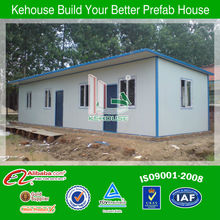 Cool and convenience low cost rock wool sandwich panel prefab house with ISO9001 AS/CE certificate