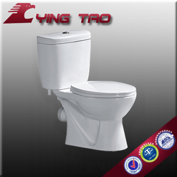 self-clean Engineering two piece toilet tanks sanitary wc pans