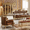 196 High quality luxury classic living room sofa set furniture