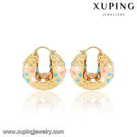 91414-xuping wholesale simple designs 18k gold earring models